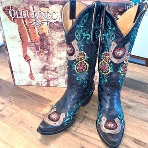 Old Gringo Lucky Stud Cowboy Boots Size 7 B